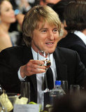 Owen Wilson sipped on his drink.