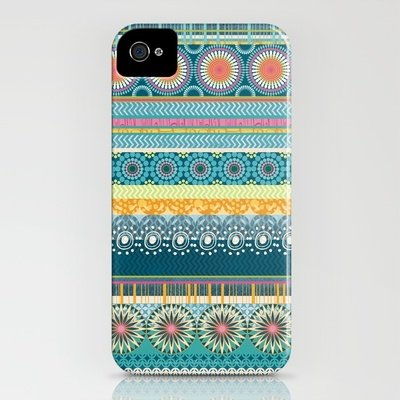 This Blue Streaks ($35) case for iPhone 4 and 5 has tons of pretty little patterns.