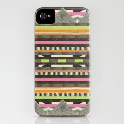 Dawn Gardner's DG Aztec No. 2 ($35) print for iPhone 4 and 5 is rocking a warm, earthy vibe.
