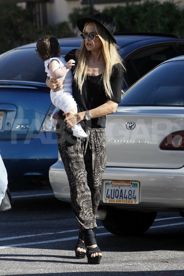 Rachel Zoe toted Skylar around LA in a sleek, slouchy, and totally comfy-looking pair of Iro pants, which you can shop right here.