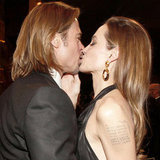 Brad Pitt and Angelina Jolie Kiss at SAG Awards