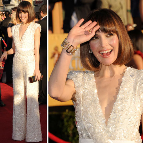 Rose Byrne in White Sequinned Elie Saab Jumpsuit at the 2012 SAG Awards Red Carpet: Rate it or hate it!