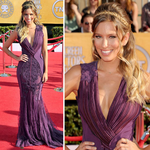 Pictures of Renee Bargh in Basil Soda Gown at the 2012 SAG Awards Red Carpet: Rate it or hate it!