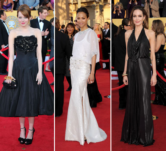 Pictures of the Celebrity Red Carpet Arrivals at the 2012 SAG Awards Michelle Williams, Kaley Cuoco, Ariel Winter & More!