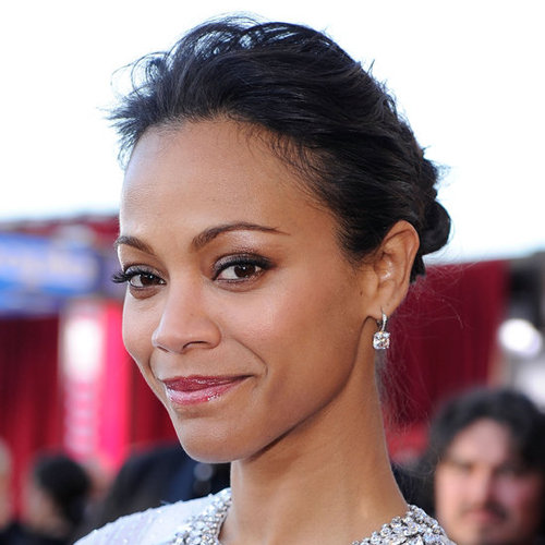 Zoe Saldana's Hair and Makeup at the 2012 SAG Awards