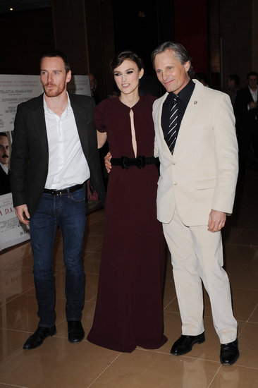 Michael Fassbender Suits Up For a Dangerous Premiere With Keira Knightley
