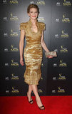 Cate Blanchett wore a gold Alexander McQueen dress for the 2012 AACTA Awards.