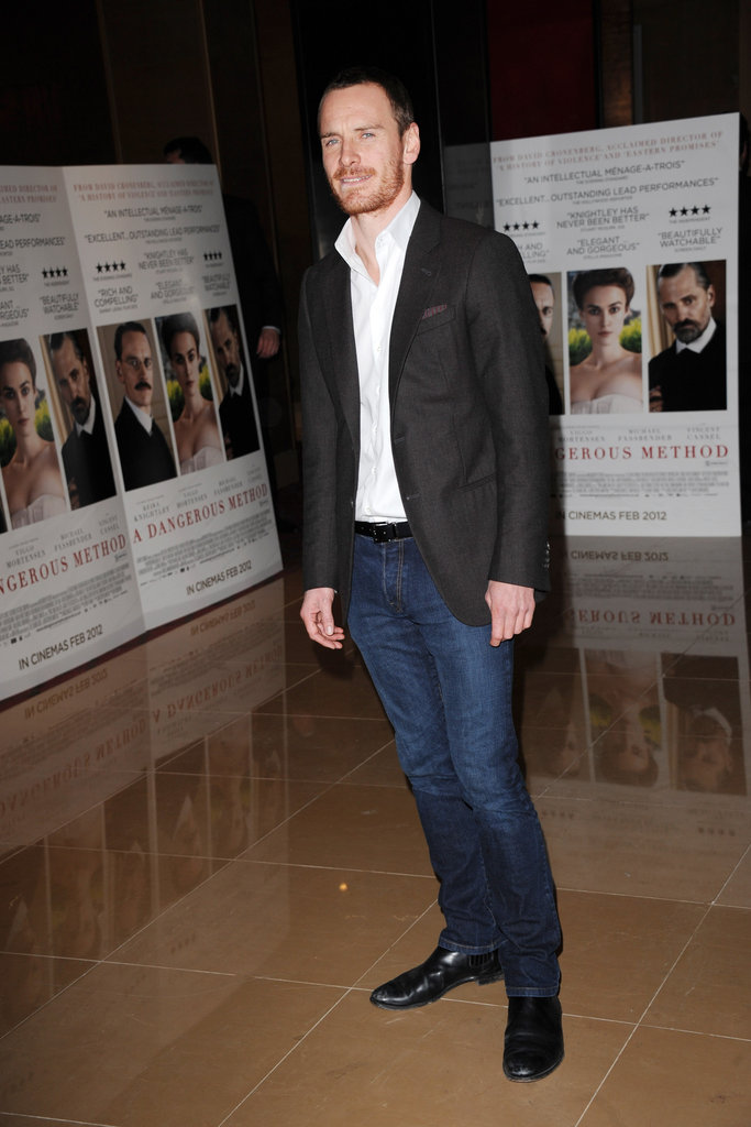 Michael Fassbender was casual in jeans.