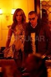 Jennifer Lopez and Casper Smart arrived at dinner together.