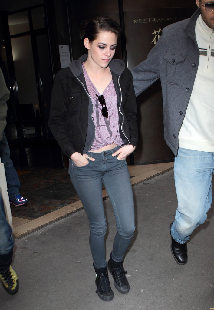 Kristen Stewart in Paris.