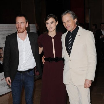 Michael Fassbender Pictures at Premiere With Keira Knightley