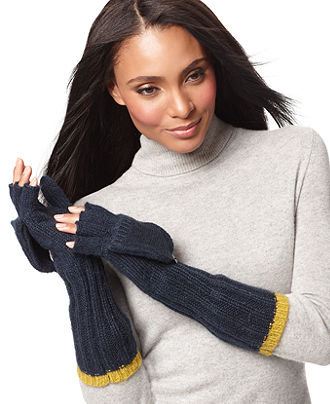 Add a pop of color to your Winter wardrobe with these long, two-toned gloves from Nine West. Nine West Long Convertible Fingerless Gloves ($22)