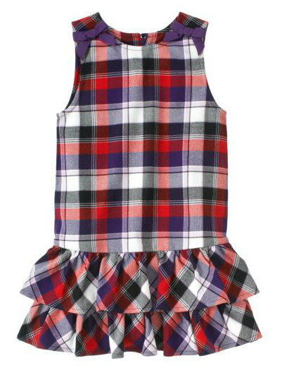 Gymboree Plaid Tiered Jumper ($37)