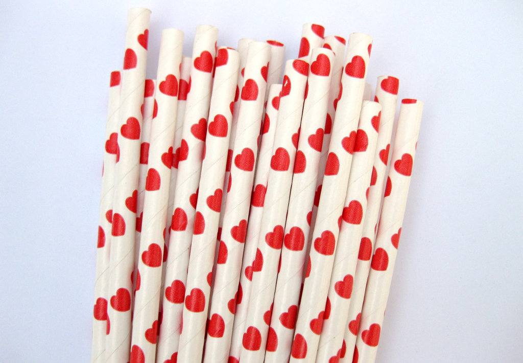 Red Heart Paper Straws ($4 For 25)