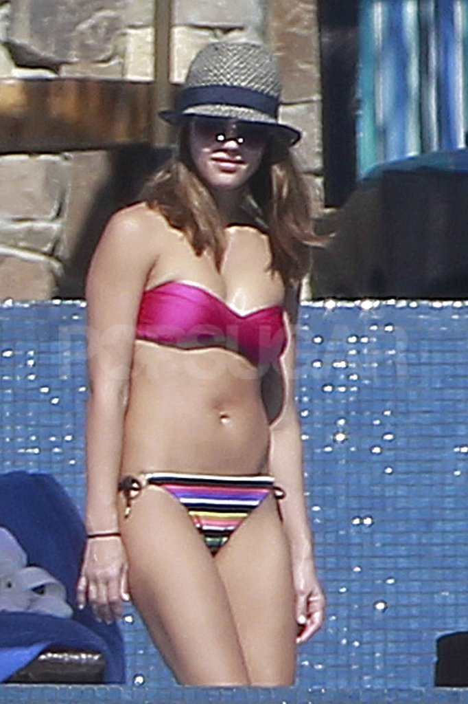 Jessica Alba had sunglasses on in Cabo.