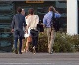 Pippa Middleton, James Middleton, Kate Middleton, and Prince William went inside a small airport.