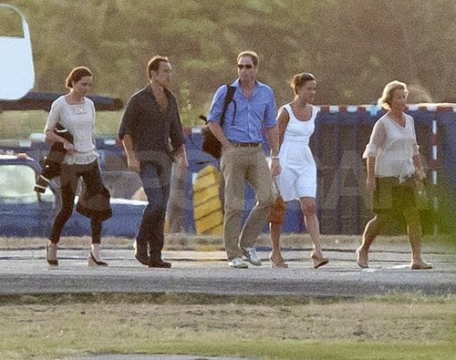 Pippa Middleton, James Middleton, Kate Middleton, and Prince William left the West Indies.