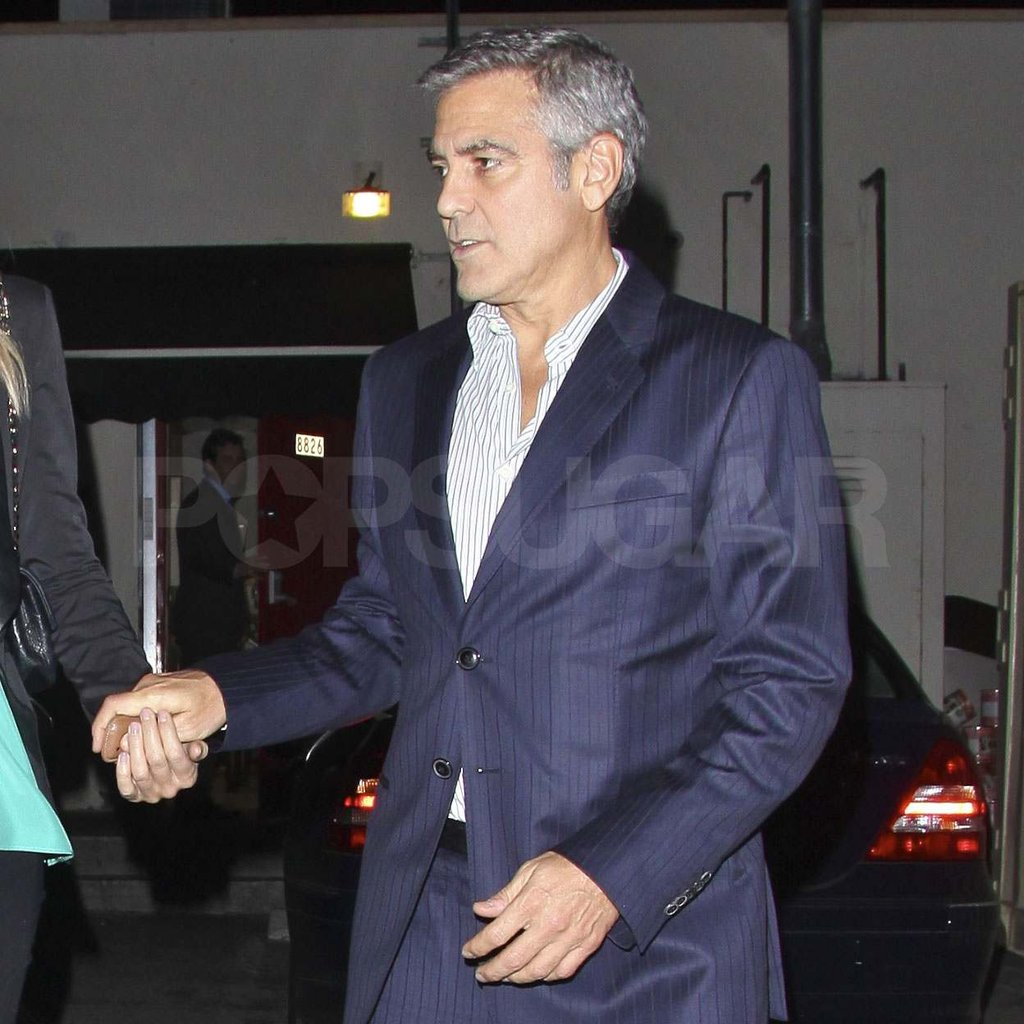 George clooney in a blue suit