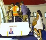 Pippa Middleton boarded a plane with Kate and William.