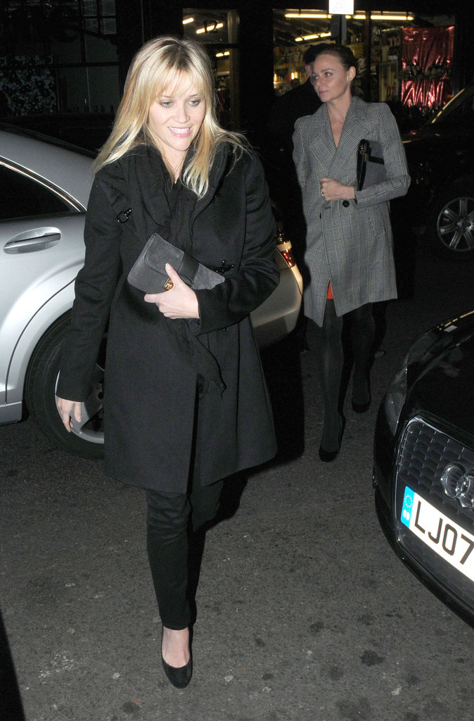 Reese Witherspoon lead the way for Stella McCartney into a London club.