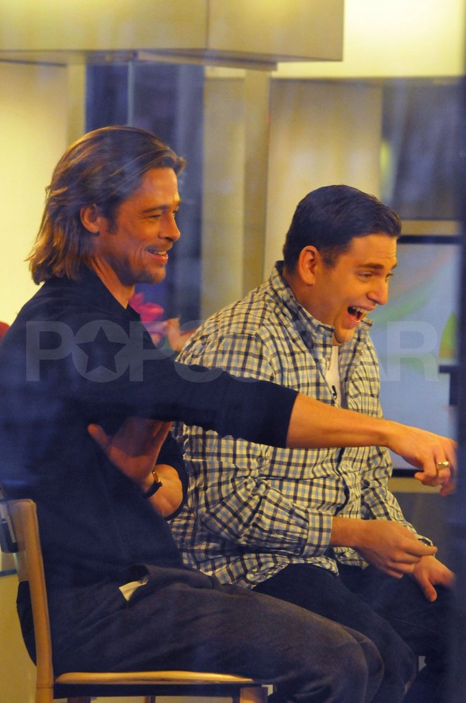 Brad Pitt made Jonah Hill laugh out loud.