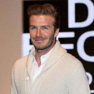 David Beckham H&M Store in London Pictures