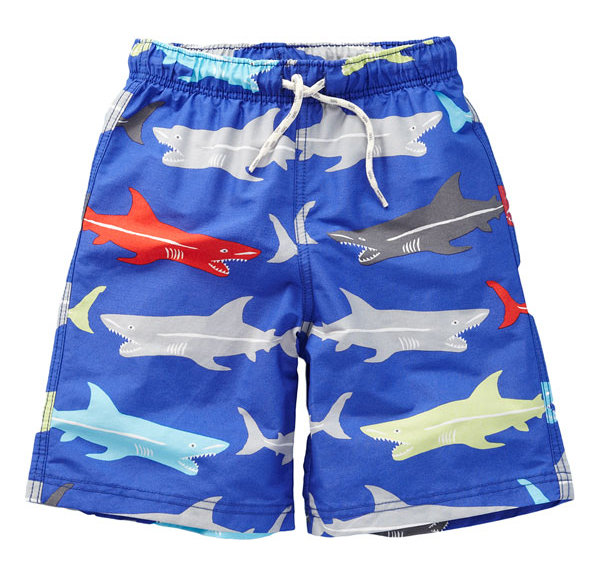 Mini Boden Reef Graphic Sharks Bathers