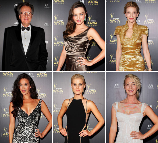 Australia's Brightest TV and Film Stars Walk the Red Carpet at the 2012 AACTA Awards