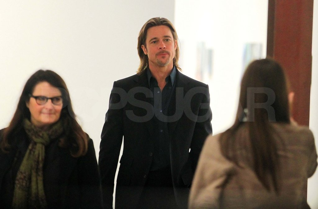 Brad Pitt at a NYC art gallery.