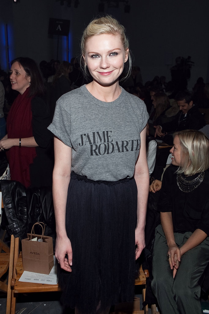 Kirsten Dunst supported longtime friends (and Rodarte designers) Kate and Laura Mulleavy at their Fall show in September 2010.