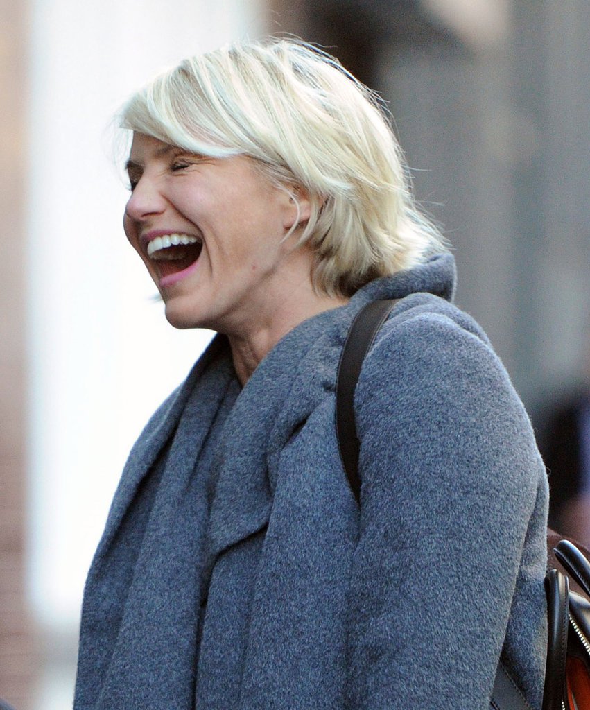 Cameron Diaz laughing.