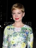 Michelle Williams dressed in florals.