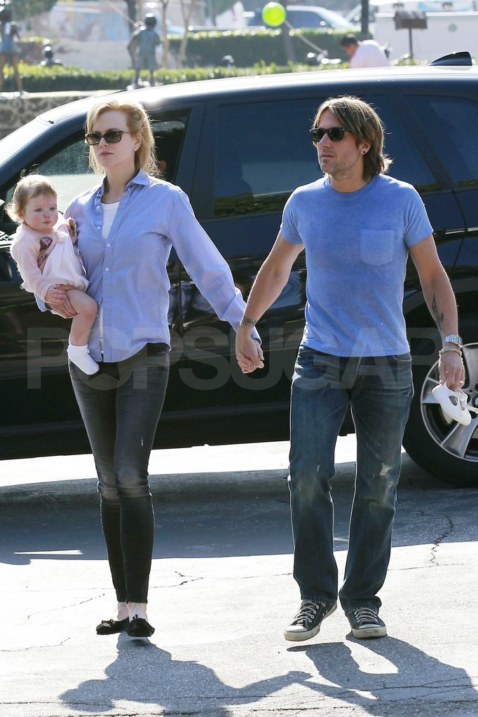 Keith Urban, Nicole Kidman, and Faith Urban spent a day together.