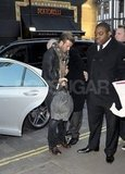 David Beckham wrapped up in a scarf for a day in London.