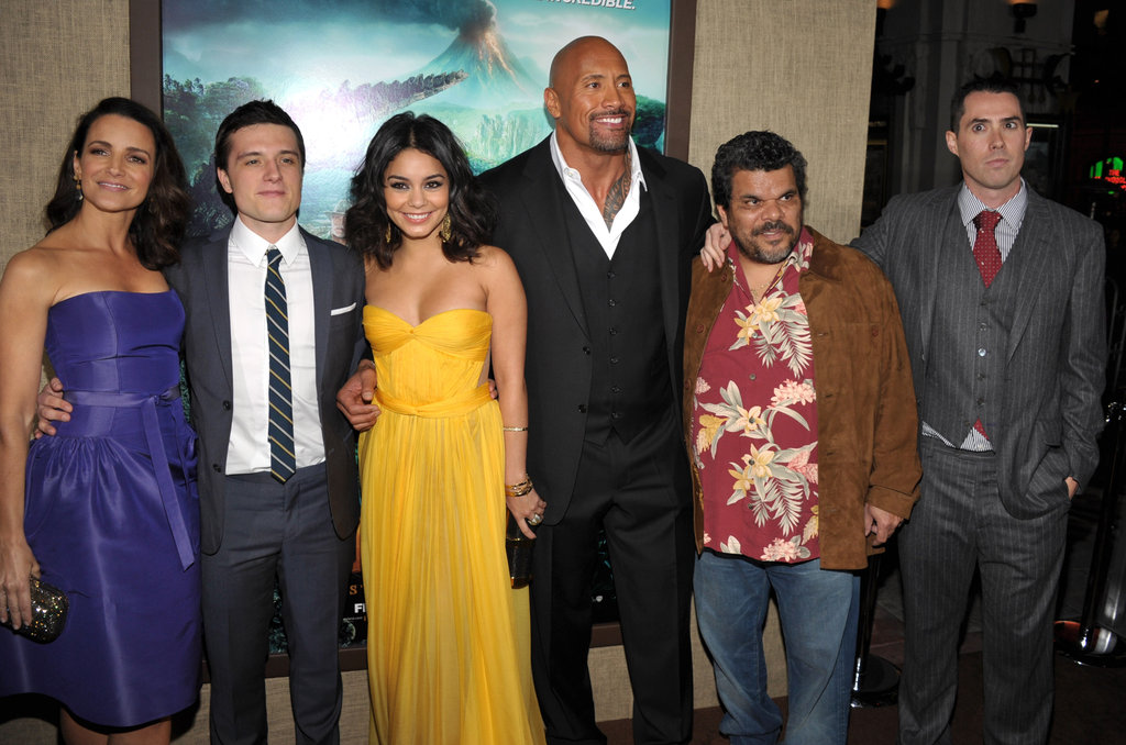 Vanessa Hudgens, Kristin Davis, Josh Hutcherson, and The Rock hung out at the premiere of Journey 2: The Mysterious Island.