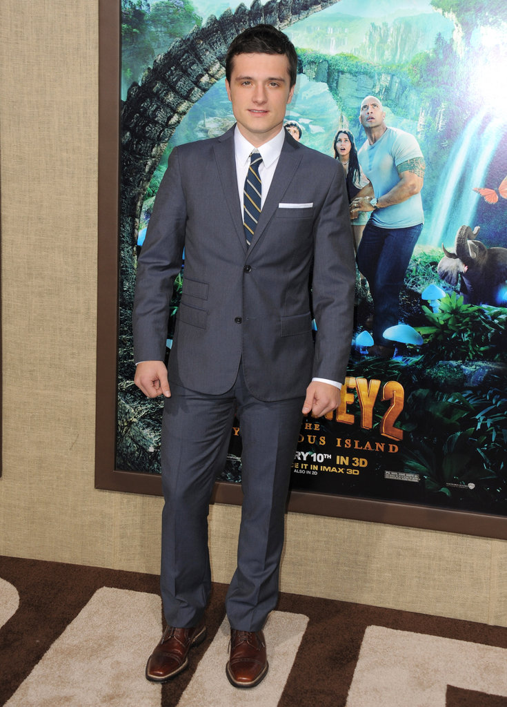 Josh Hutcherson hung out at his premiere of Journey 2: The Mysterious Island.