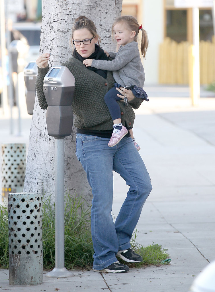 Jen fed a parking meter.