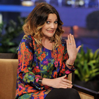 Drew Barrymore Ring Pictures at The Tonight Show