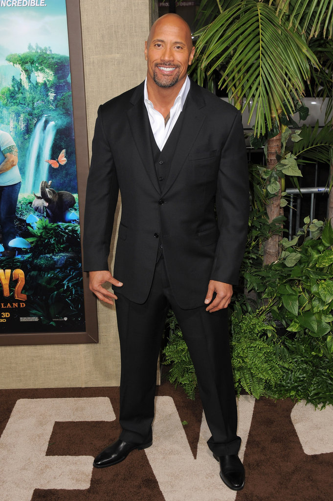 "Dwayne ""The Rock"" Johnson smiled at his big premiere."