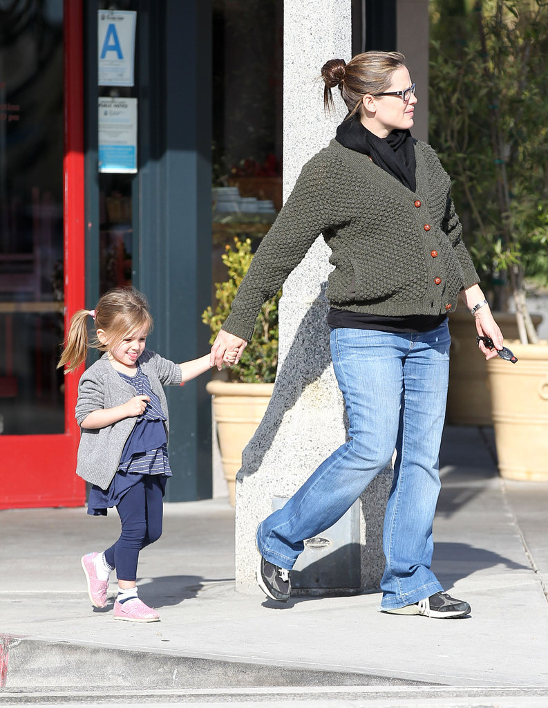 Jen led Seraphina by the hand around their Brentwood neighborhood.