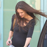 Katie Holmes leaving dance class.