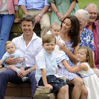 Princess Mary and Prince Frederik Pictures With Children Christian, Isabella, Vincent and Josephine