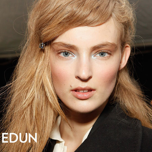 Edun Fall 2012 Hair and Makeup Look