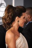 Kate Beckinsale wearing a ponytail.