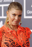 Fergie wore big gold hoops to the Grammys.