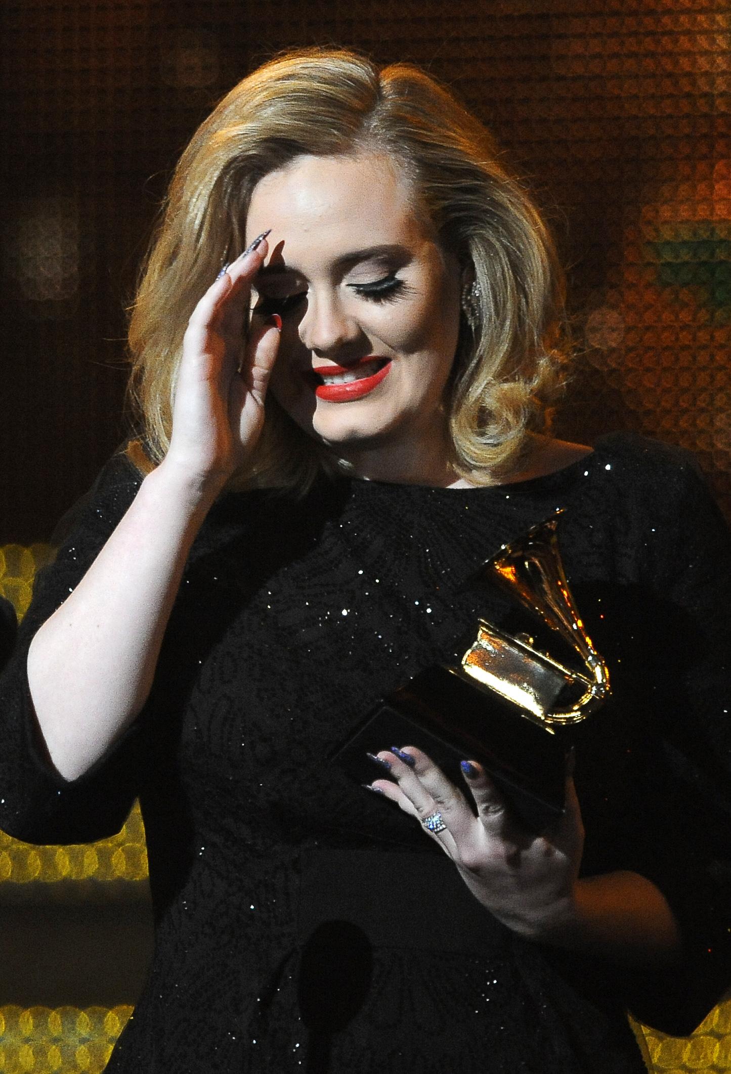 Adele won a Grammy.