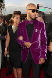 Alicia Keys posed with husband Swizz Beatz at the Grammys.