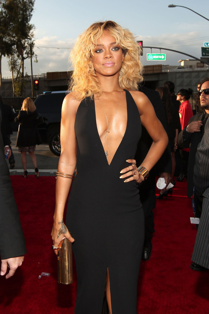 Rihanna with blond hair.