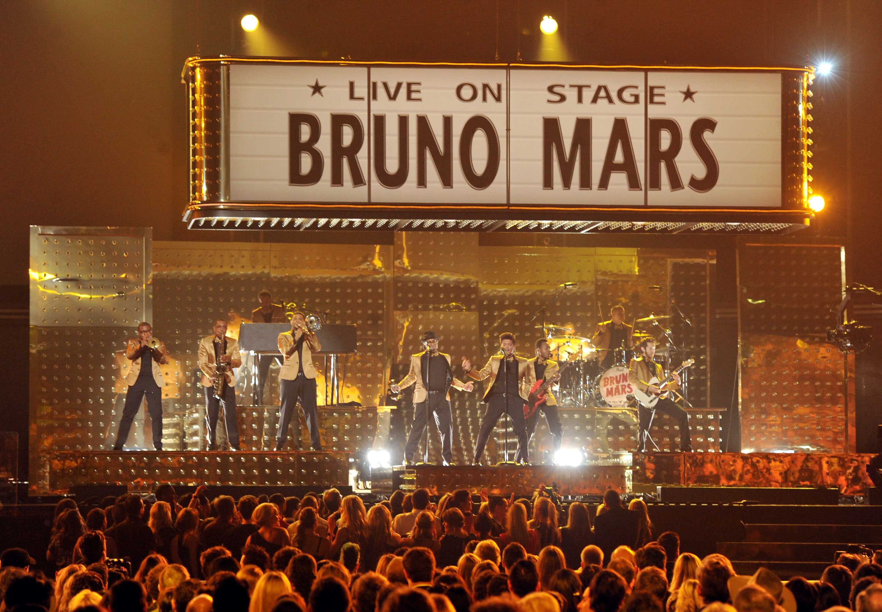 Bruno Mars was one of the first performances of the night.
