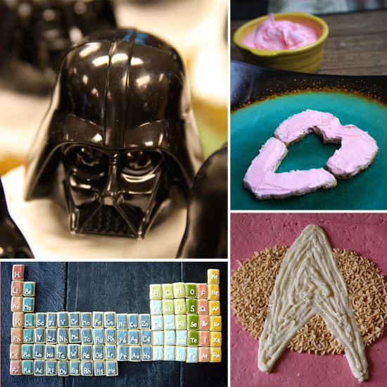 Skip the store-bought dessert and bake up a batch of nerdy cookies or geeky cupcakes.